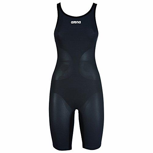ARENA Damen Powerskin Carbon Air Swim Suit - Closed Back Badeanzug, Dunkelgrau/Schwarz, 28