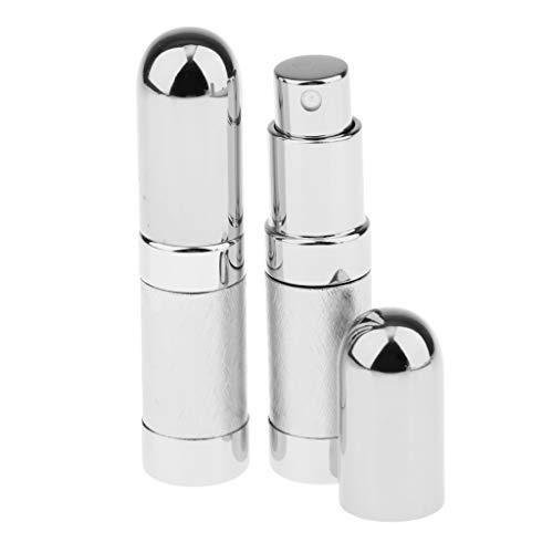MERIGLARE 2pcs 6ml Portable Mini Parfum Rechargeable Bouteille Vide Pour échantillon Coloré - Argent