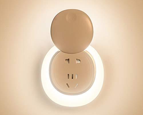 Luz nocturna inteligente con mando a distancia de inducción LED para dormitorio, mesita de noche, hogar, siete agujeros, lámpara de enchufe 4.8, plástico, Ordinary models