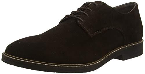 Kickers Maldan, Zapatos de Cordones Derby para Hombre, (Marron Fonce Perm 92), 43 EU