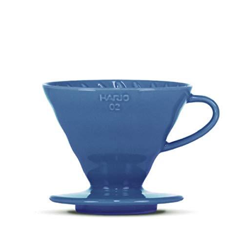Kaffeefilter/Handfilter V60 aus Porzellan Größe 02 Turquoise Blue von HARIO
