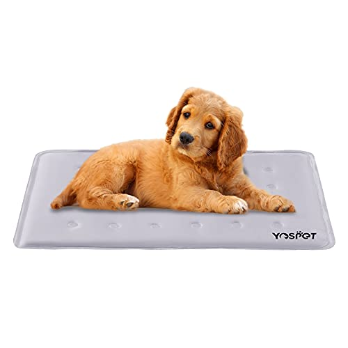 Yespet Cooling Mat for Dogs (2021 New) Summer Self-Cooling Pads or Mats Bed Pad Blanket Grey L