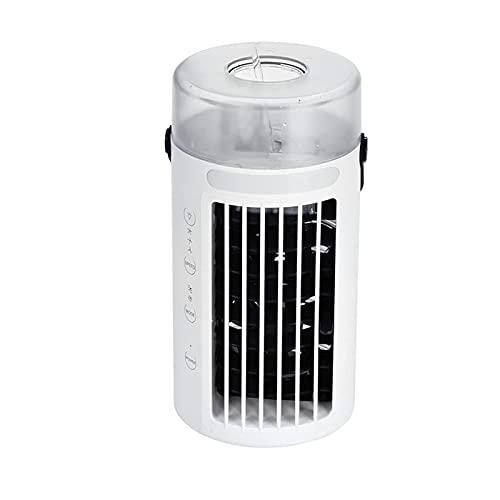 ZHOUJ Mini refrigerador de Aire Acondicionado portátil, refrigerador de Aire Personal con 3 velocidades Ajustables, humidificador evaporativo Mesa de Escritorio Ventilador