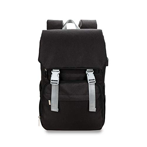 PING Pañal de bebé Backback de gran capacidad momia pañal bolsa multifuncional con puerto de carga USB cambiador cojín cochecito