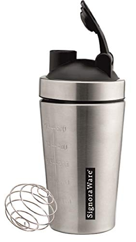 Signoraware Charger Shaker Steel, Set of 1, 500 ml, Silver