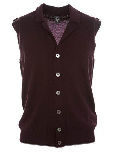Luxury Fashion | Eleventy Heren 979MA022124 Bordeaux Wol Gilets | Lente-zomer 20