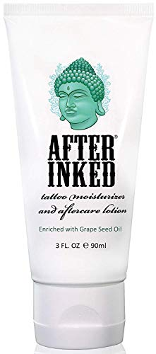After Inked Tattoo Moisturizer and Aftercare Lotion, 3 Fluid Ounce