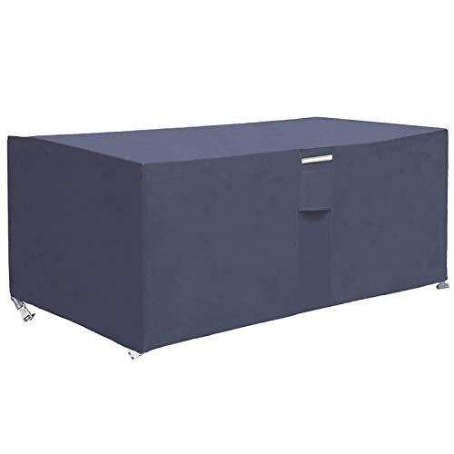 RICHIE Terrassentischabdeckung, wasserdicht, 200 x 160 x 70 cm, Rattan-Möbelabdeckungen, 600D Oxford PVC-Beschichtung, Outdoor-Möbel-Set, Abdeckung für Gartentisch und Stühle