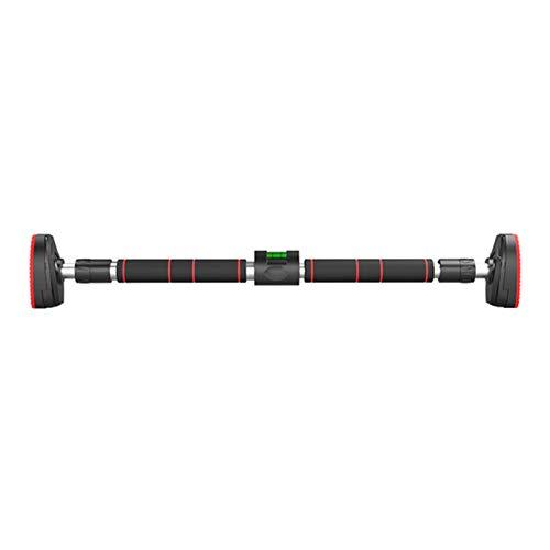 QAX Barra telescópica para dominadas, barra de dominadas, sin tornillos, con cierre de seguridad para el gimnasio, entrenamiento, entrenamiento muscular, B, 96 ~ 135 cm