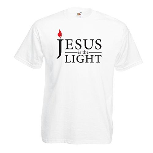 lepni.me Mannen T-shirt Jesus Christ is the Light, God's Love - Easter - Resurrection - Nativity- Religious Christian Gifts