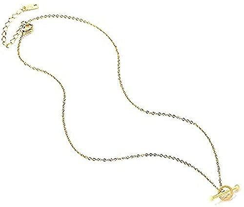 ZGYFJCH Co.,ltd Collares Moda Collar Anillo Collar Geométrico Mujer Clavícula Simple Neklace para Mujer