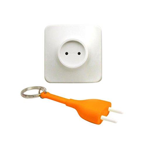 Kreative Steckdose Stecker Ziehen Anti Verloren Schlüsselring Schlüsselanhänger Schlüsselhalter