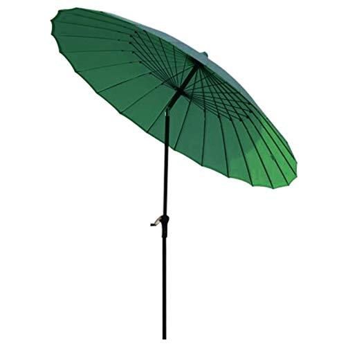 Sombrilla Jardin Sombrilla de Jardín de 8,2 Pies / 2,5 M, Sombrillas Al Aire Libre para Sombra de Patio/Playa/Piscina, con Función Winding Crank & Tilt, Protector Solar UV50 +