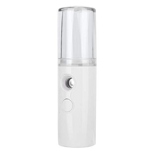 Pulverizador de nanómetro, pulverizador de niebla, instrumento de belleza portátil de 25 ml inalámbrico para mujeres, hogar, niñas, viajes(white)