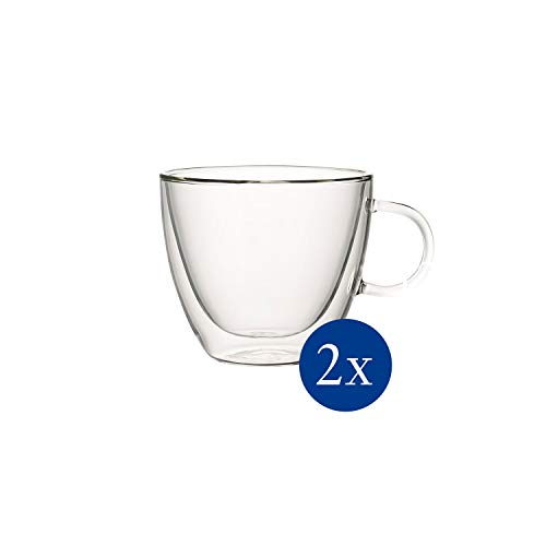 Villeroy & Boch - Artesano Hot & Cold Beverages Tasse L Set, 2 tlg., 420 ml (randvoll gemessen),Borosilikatglas, spülmaschinen-, mikrowellengeeignet