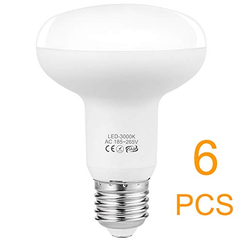 LED Leuchtmittel E27 Lampen, 9W Dimmbar Reflektor Birnen Ersetzt 75W Glühbirnen, Warmweiss 3000K 900 Lumen 185-265V, 6er-Pack