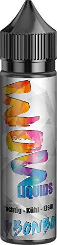 E-Zigarette E Liquid ohne Nikotin I 1 x 50ml I WOW LIQUIDS Vape Liquid 70 VG/30 PG für elektronische Zigaretten oder Shishas,Nikotinfrei I Made in Germany I Sucralosefrei (Icebonbon)