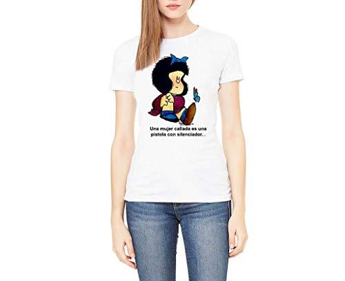 Camiseta Mafalda (Blanco, XXL)