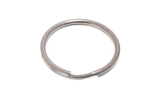 Lot de 100 anneaux fendus clés 32mm 1 1/4 po en acier nickelé