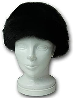 ミンクファー ターバン付き帽子