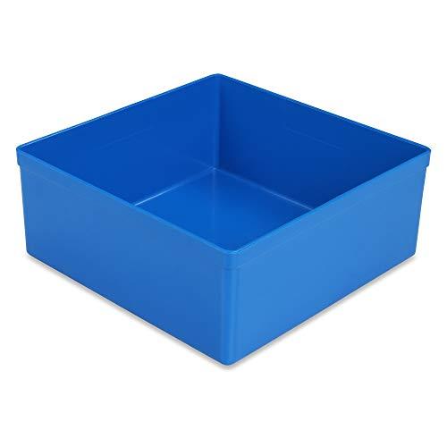 12 Stück Kunststoff-Einsatzkasten Insert-Box, blau, 108x108x45 mm (LxBxH), aus PS