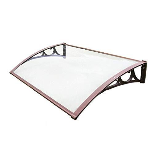 Regendicht deurmarkies Outdoor voortent deuren en ramen, transparant dak Cover, 80cm lang Aluminium beugel, Sun Protection/Zonnescherm/Bescherming tegen regen en keuze uit verschillende maten zonn
