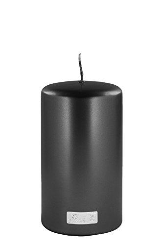 Fink Candle Stumpenkerze, Wachs, schwarz, 8cm