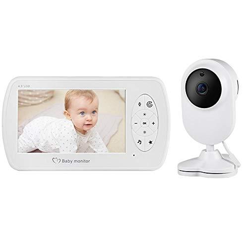 vigilabebe Video monitor para bebés y cámara audio bidireccional niñera cámara de seguridad para bebés teléfono para bebés detección de temperatura de visión nocturna