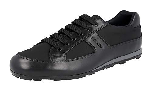 Prada Herren Schwarz Leder Sneaker 4E3231 44.5 EU/UK 10.5