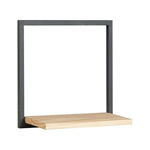 BANAK IMPORTA Nordic - Scaffale in Metallo 40 Grigio Antracite – Legno – 40 x 20 x 40 cm – Colore Naturale