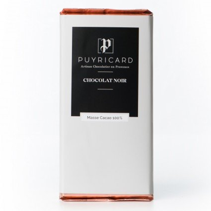 Tablette de chocolat noir 100% masse 110g