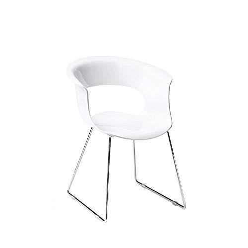 Scab Set 2 Design Miss B Antishock Chaise Pied traîneau Blanc Couvrant