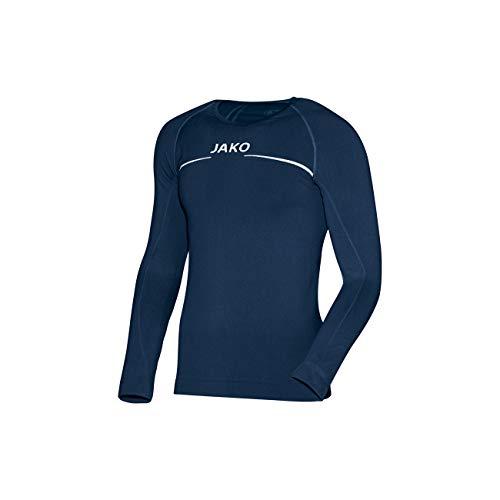 JAKO Longsleeve Comfort - Herren Langarmshirt,blau (marine), L