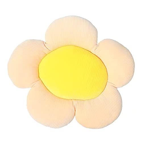 ZHANGKAIXUAN Cojín Almohada cojín Soporte Lumbar Asiento alevador cojín de Dibujos Animados cojín Lumbar Cubierta Cuatro Temporadas Coche Coche cojín Almohada Flor (Color Name : Yellow)
