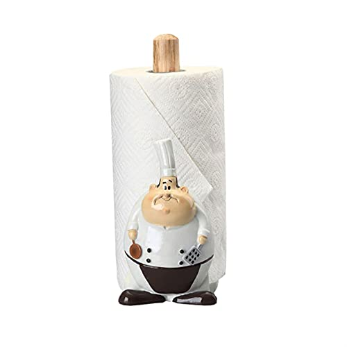 Portarrollos Cocina Soporte de toalla de papel decorativo - soporte de papel de rollo de cocina Lágrima simple Papel Papel Toalla Dispensador Creativo Pañal Vertical Almacenamiento Portarollos Cocina