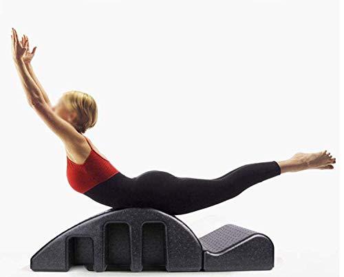LoMSA Pilates ARC Foam Spine Corrector Corrector Barril, Mesa de Cama de Masaje de Yoga, máquina de corrección de kyphosis Pilates Reformer Científico Ajuste Curva de la espinal