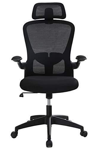 Sophia & William Ergonomic Rocking Mesh Home Office Desk Chair High Back, Modern 360° Swivel Executive Computer Chair Flip-up Armrests, Adjustable Lumbar Support & Headrest, Load Capacity: 300 lbs
