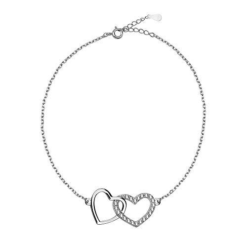 SOFIA MILANI Damen Armband Armkette Herz Love Silber 30073