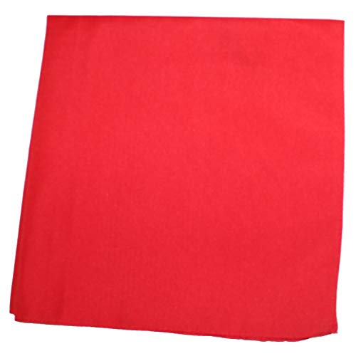 Mechaly Solid Colors 100% Cotton Bandana (Red)