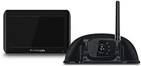 Furrion Vision S 7 Inch Wireless RV Backup System with 1 Rear Sharkfin Camera, Infrared Night Vision and Wide Viewing Angle - FOS07TASF