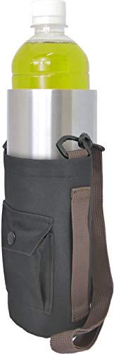 巾着 ペットボトルホルダー ペットボトルカバー ブラック ショルダー&ハンドルタイプ 多彩なサイズのペットボトルを保温・保冷 真空ステンレス アウトドア