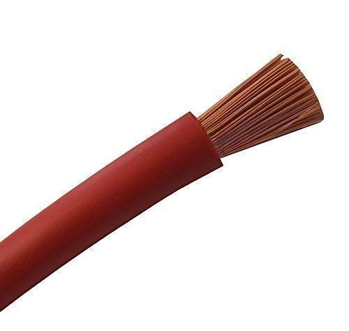 3 metros de cable de batería rojo H07V-K 16 mm2 – Cable de batería para coche – 100% cobre OFC – 3 m (3 m) 16 mm2