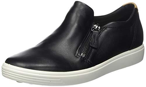 ECCO Damen Soft 7 W Black Droid Sneaker Slip On, Schwarz (BLACK), 39 EU