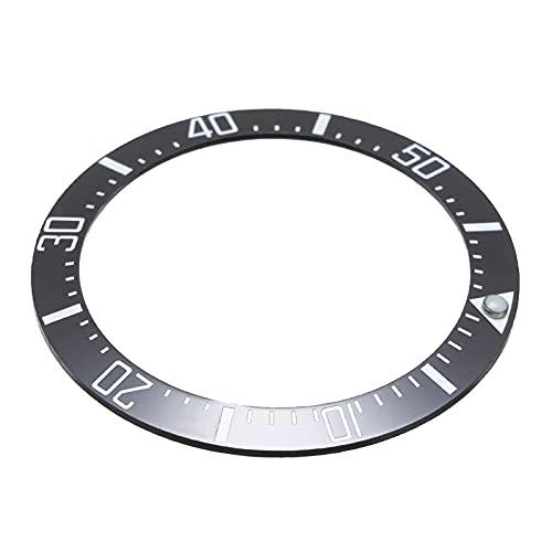 Reloj Bisel Anillo Cubierta de Reloj de cerámica de 40 mm de cerámica Universal Reloj de Reloj para Hombre Inserte Accesorios para Relojes Seiko para Rolex/Omega Reloj Bisel