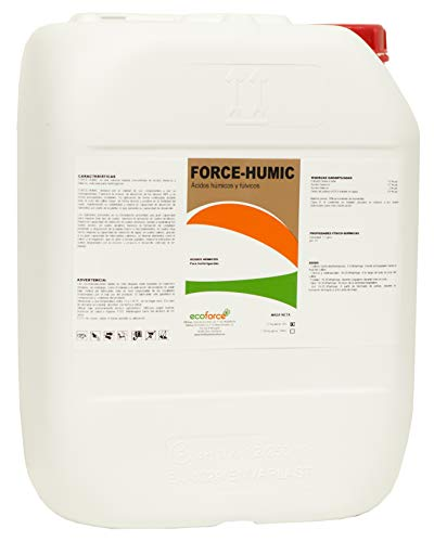 CULTIVERS Force-Humic de 20 l. Fertilizante - Abono de Ácidos Húmicos y Fúlvicos de Leonardita. Potencia la fertilidad del Suelo Mejora la Capacidad de absorción de nutrientes y desarrolla la raíz