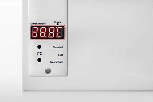 Infrarotheizung 1050W Digitaler Front - Thermostat integr. Speicherheizung HDW