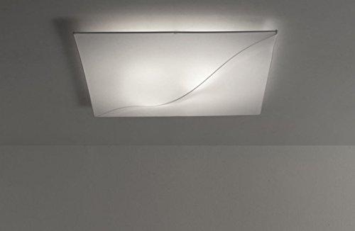 iBERGADA Lámpara de Techo Plafón de Tela Elástica - Sofia Color Blanco (50cm x 50cm x 8cm)