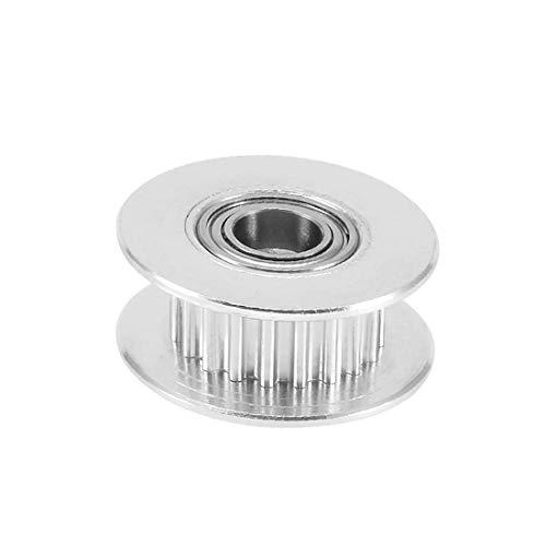 New Lon0167 Alluminio GT2 In primo piano 20T efficacia affidabile foro da 3 mm Timing Idler Puleggia Flangia Ruota sincrona con cuscinetto a sfere per stampante 3D(id:649 2b ba 226)