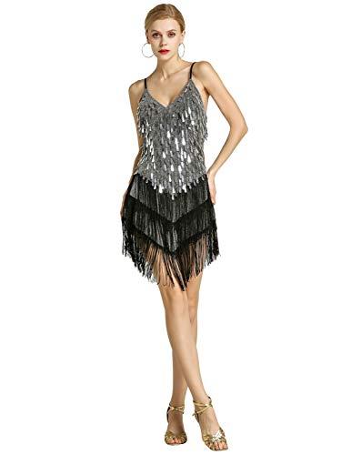 Zengbang Mujer Moda Lentejuelas Conjunto Traje de Baile