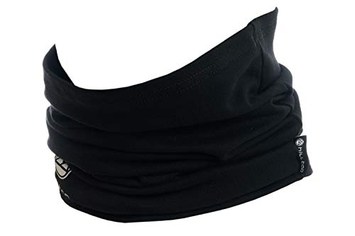 Hilltop Hilltop Motorrad Halstuch, Multifunktionstuch, Schlauchtuch, Bandana, Schal - 100% Baumwolle, Farbe/Design:Schwarz